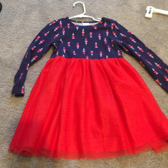 Gymboree Other - Red/navy Gymboree girls tulle dress 4T